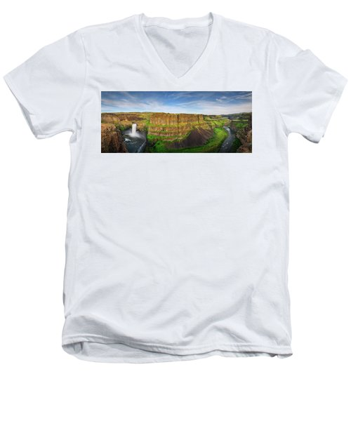 Palouse Falls Canyon Men's V-Neck T-Shirt