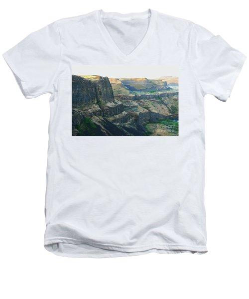 Palouse River Canyon Buttes Men's V-Neck T-Shirt