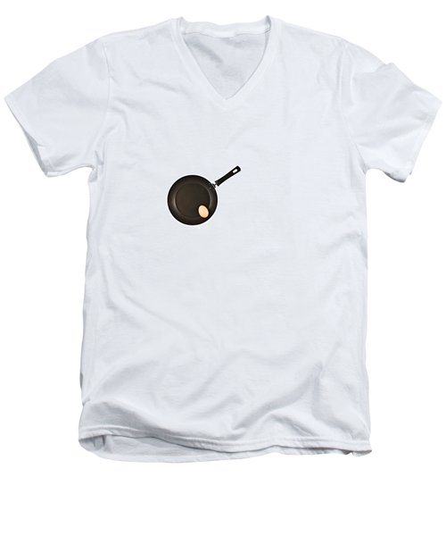 Men's V-Neck T-Shirt featuring the photograph Pan With Egg by Gert Lavsen