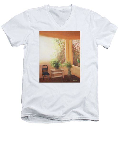 Pancho Come Home Men's V-Neck T-Shirt by Irene Corey