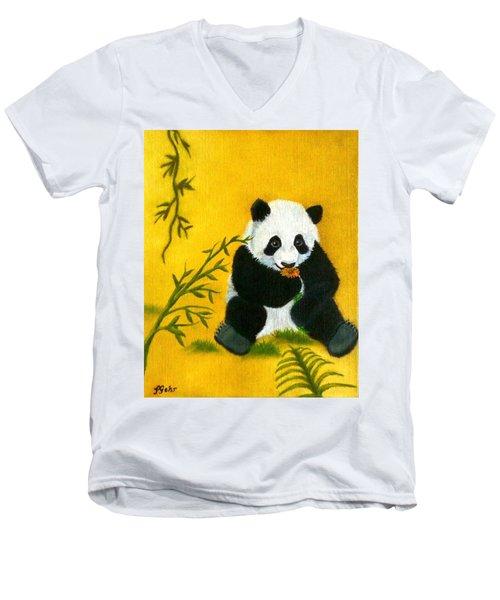 Panda Power Men's V-Neck T-Shirt