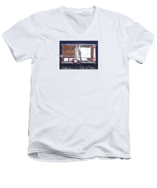 Panel Saw Men's V-Neck T-Shirt by Jean Pacheco Ravinski