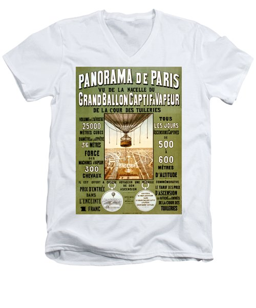 Panorama De Paris Men's V-Neck T-Shirt