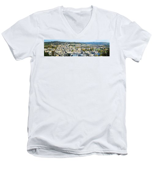 Panorama Of Bath Men's V-Neck T-Shirt