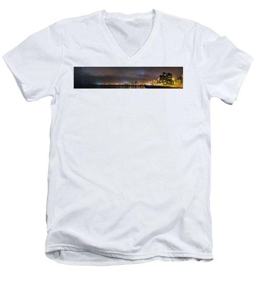 Panorama Of Reykjavik Iceland Men's V-Neck T-Shirt by Joe Belanger