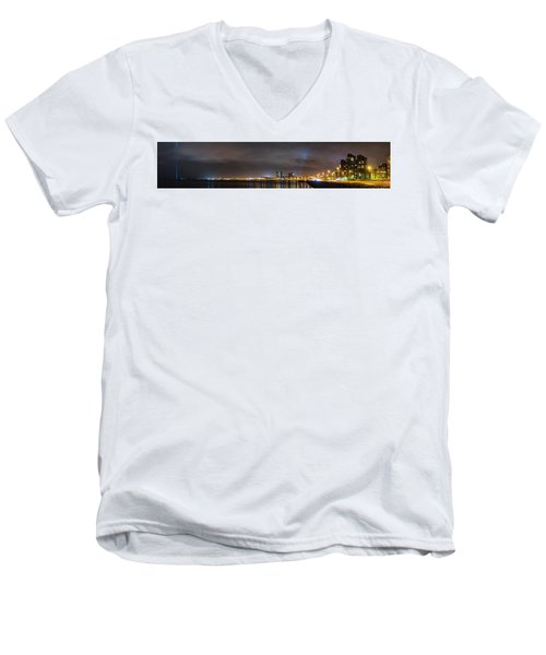 Panorama Of Reykjavik Iceland Men's V-Neck T-Shirt