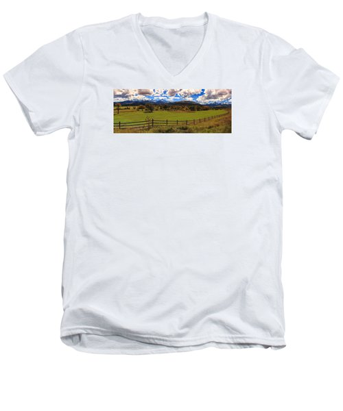 View Of The San Juans Men's V-Neck T-Shirt by Rick Furmanek