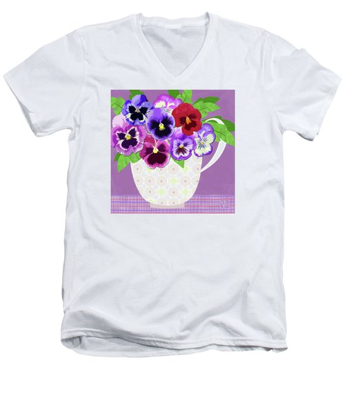 Pansies Stand For Thoughts Men's V-Neck T-Shirt