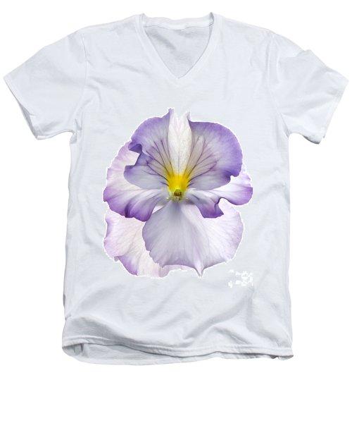 Pansy Men's V-Neck T-Shirt by Tony Cordoza