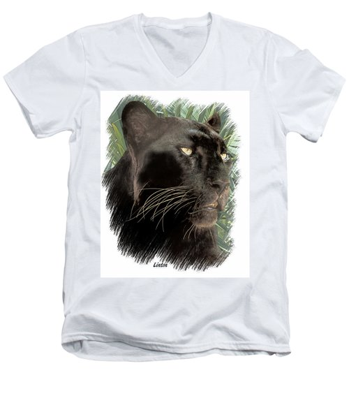 Panther 8 Men's V-Neck T-Shirt