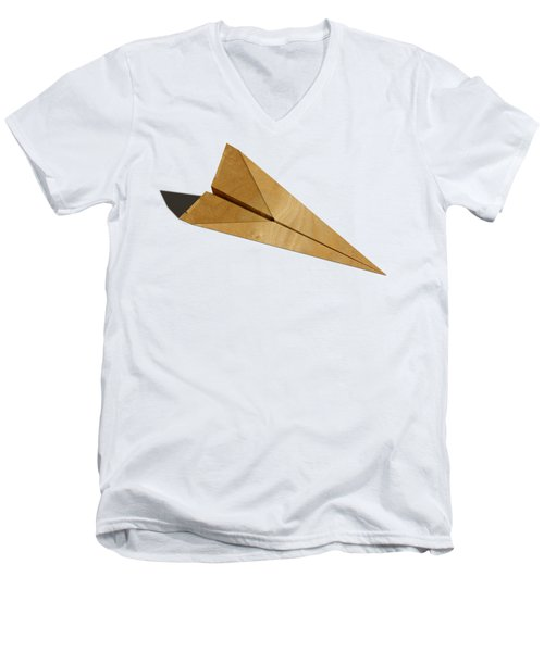 Paper Airplanes Of Wood 15 Men's V-Neck T-Shirt by YoPedro