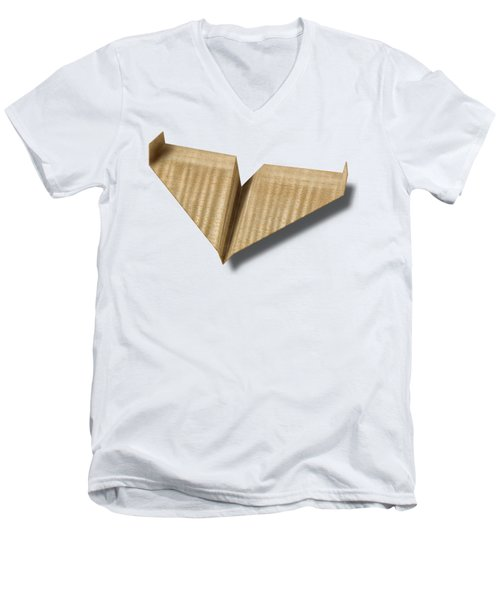 Paper Airplanes Of Wood 8 Men's V-Neck T-Shirt by YoPedro