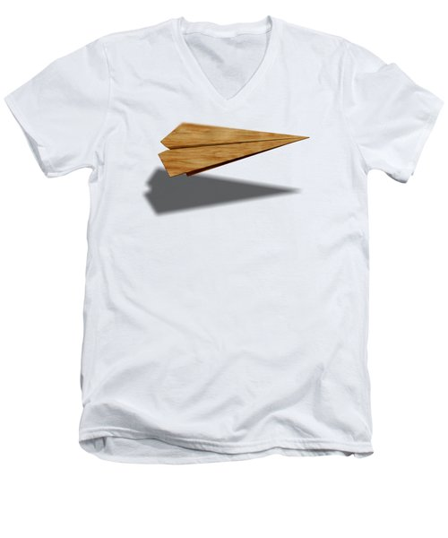 Paper Airplanes Of Wood 9 Men's V-Neck T-Shirt by YoPedro