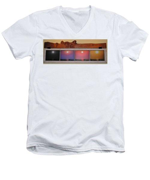 Paper Sun Men's V-Neck T-Shirt by John Wartman