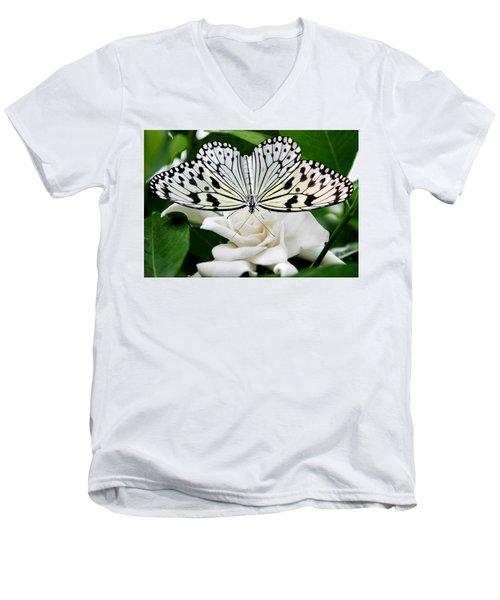 Paperkite On Gardenia Men's V-Neck T-Shirt by Kristin Elmquist