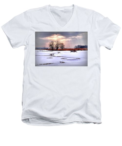 Par For Winter's Course Men's V-Neck T-Shirt