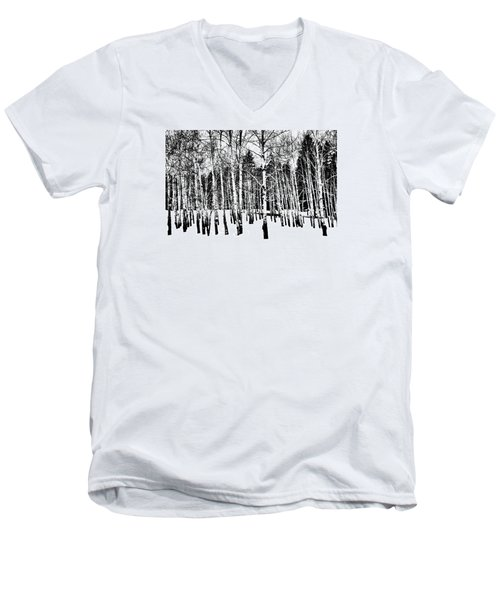 Parade Of Aspens Men's V-Neck T-Shirt