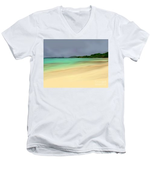 Paradise Men's V-Neck T-Shirt by Anthony Fishburne