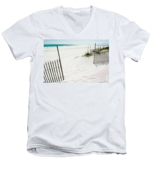 Paradise Scenery Men's V-Neck T-Shirt by Shelby  Young