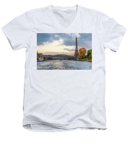 Paris 3 Men's V-Neck T-Shirt