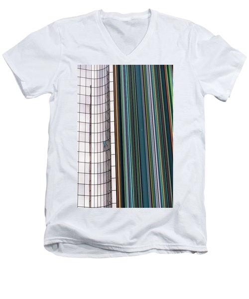 Paris Abstract Men's V-Neck T-Shirt by Steven Richman