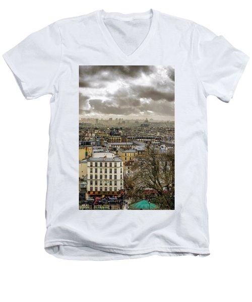 Paris As Seen From The Sacre-coeur Men's V-Neck T-Shirt