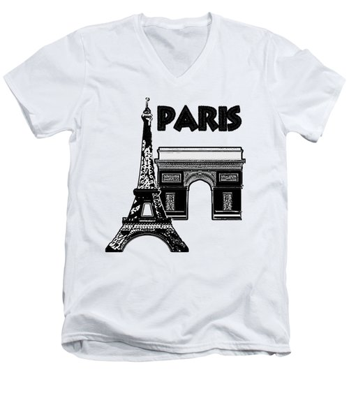 Paris Graphique Men's V-Neck T-Shirt