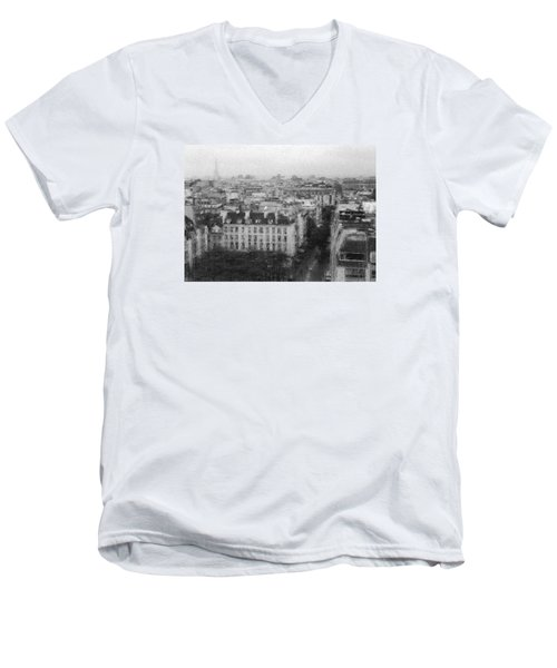 Paris In The Rain  Men's V-Neck T-Shirt