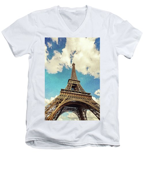 Paris Photography - Eiffel Tower Men's V-Neck T-Shirt