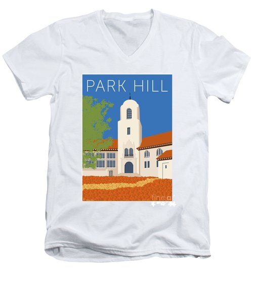 Park Hill Blue Men's V-Neck T-Shirt