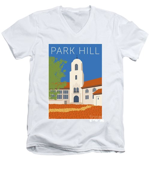 Park Hill Blue Men's V-Neck T-Shirt