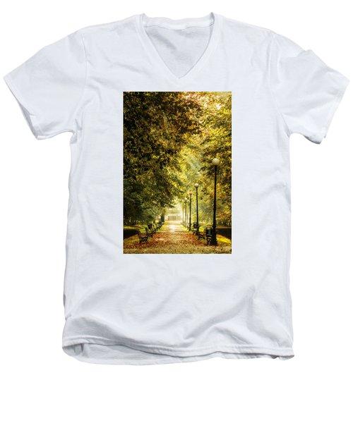 Park Lane Men's V-Neck T-Shirt by Jaroslaw Grudzinski