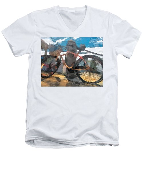 Parked At The Wharf Men's V-Neck T-Shirt
