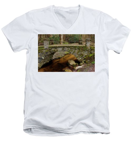 Men's V-Neck T-Shirt featuring the photograph Passing Over Many Years by Mike Eingle