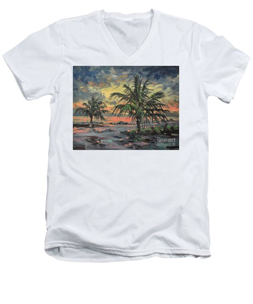 Passing Storm Men's V-Neck T-Shirt by Donald Maier