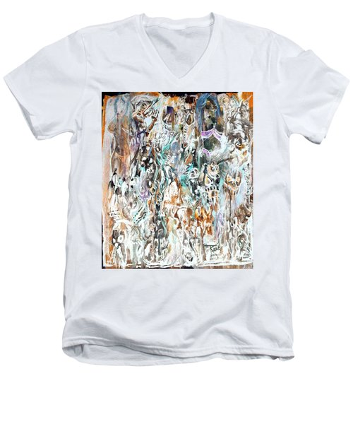 Past Life Trauma Inverted Men's V-Neck T-Shirt