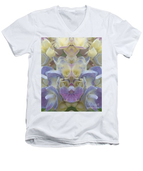 Men's V-Neck T-Shirt featuring the photograph Pastel Blooms by Christina Verdgeline