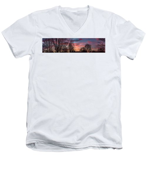 Pastel Sunrise Men's V-Neck T-Shirt