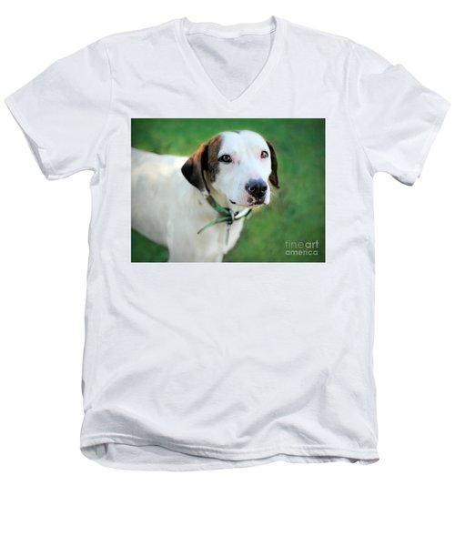 ''patch'' Men's V-Neck T-Shirt by Marion Johnson