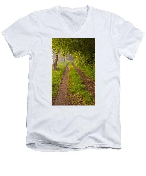 Path From Bullock Lake Men's V-Neck T-Shirt