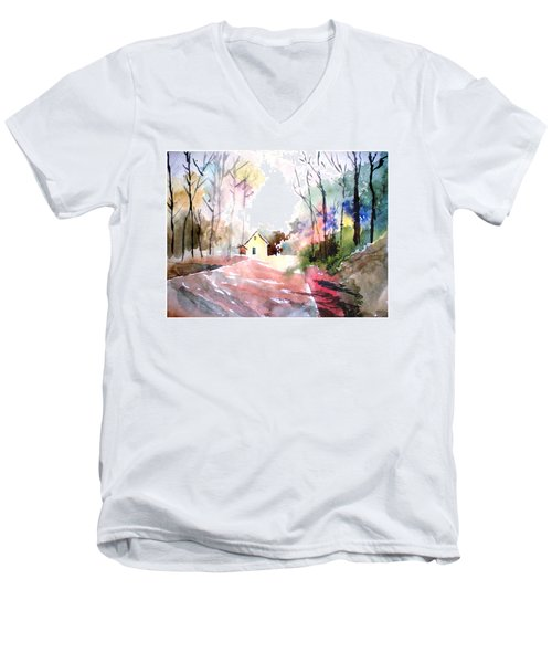 Path In Colors Men's V-Neck T-Shirt