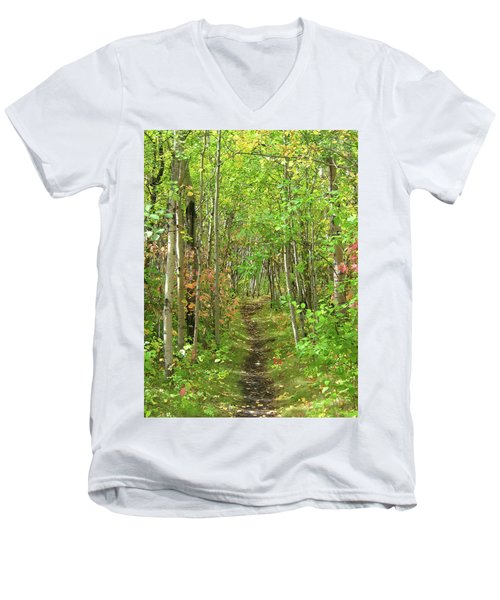 Path In The Woods Men's V-Neck T-Shirt
