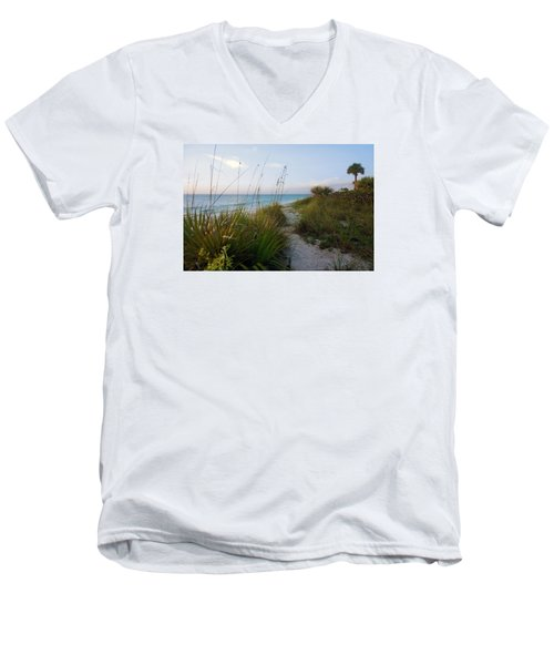 Pathway To Barefoot Beach  In Naples Men's V-Neck T-Shirt
