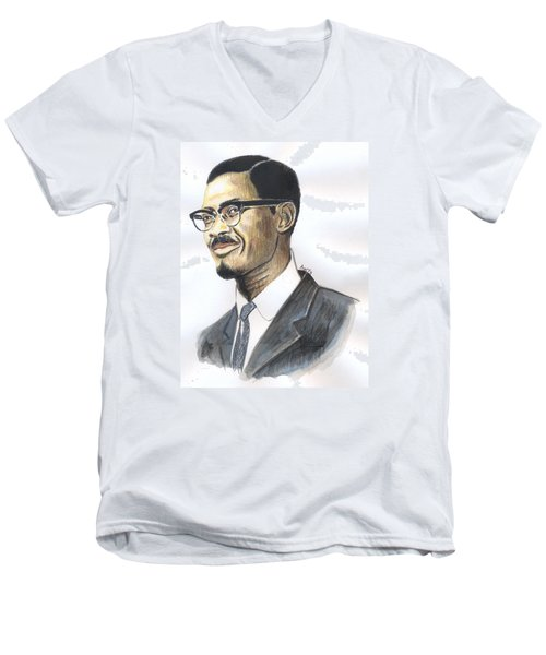Patrice Emery Lumumba Men's V-Neck T-Shirt