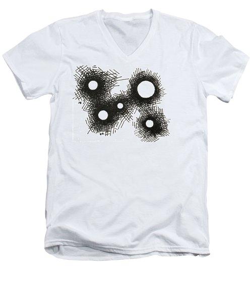 Patterns 1 2015 - Aceo Men's V-Neck T-Shirt by Joseph A Langley