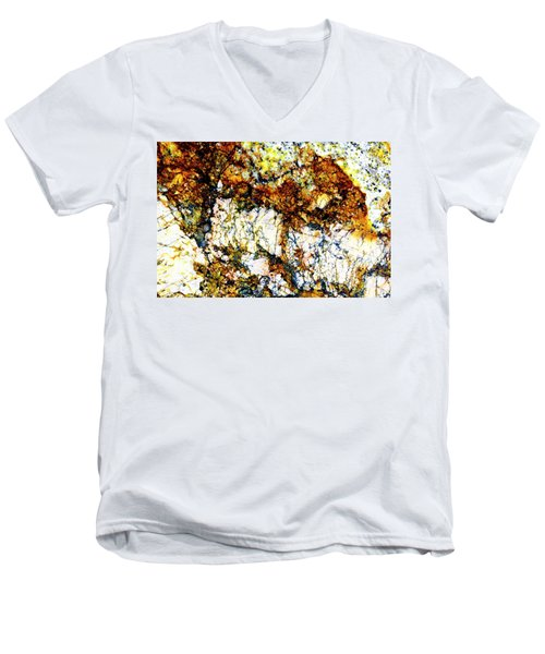 Men's V-Neck T-Shirt featuring the photograph Patterns In Stone - 210 by Paul W Faust - Impressions of Light