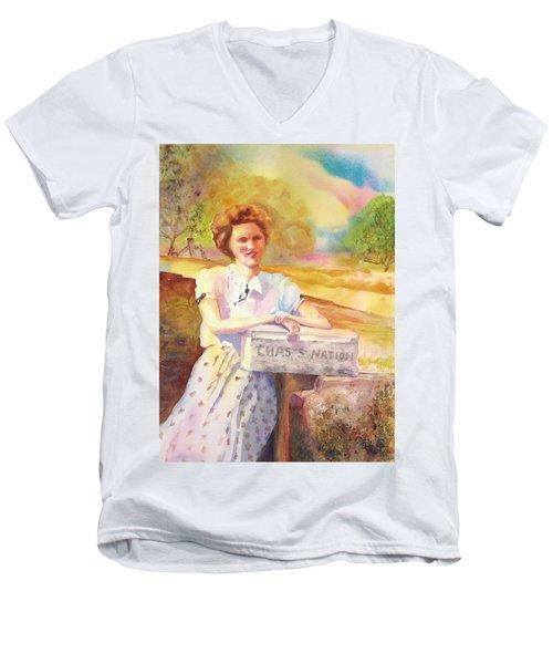 Patty Waiting For Richard Men's V-Neck T-Shirt by Tara Moorman