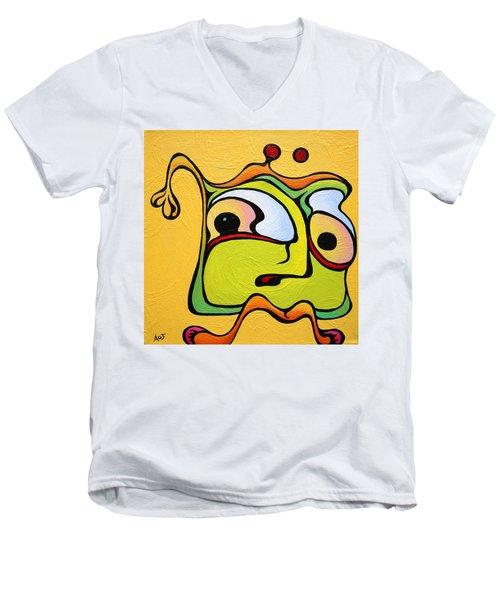Paul My Finger Men's V-Neck T-Shirt