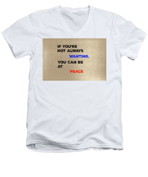 Peace #2 Men's V-Neck T-Shirt