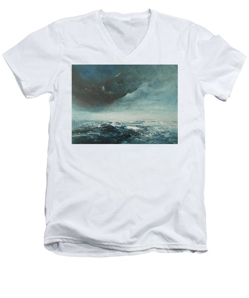 Peace In The Midst Of The Storm Men's V-Neck T-Shirt by Jane See
